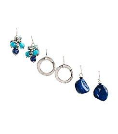 Ruby Rd.® Teal/Multi Trio Set of Three Drop Earrings