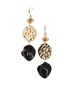 Ruby Rd.® Brown/Multi Double Drop Earrings