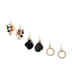 Ruby Rd.® Brown/Multi Trio Set of Three Drop Earrings