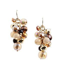 Ruby Rd.® Brown/Multi Bead Cluster Earrings