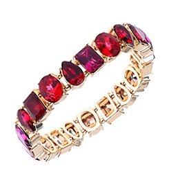 Anne Klein® Siam Goldtone Stretch Bracelet