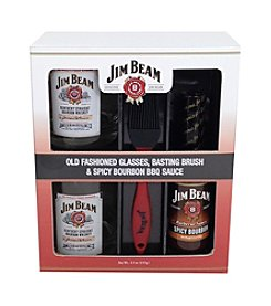 Jim Beam BBQ Sauce and Drinking Glass Set