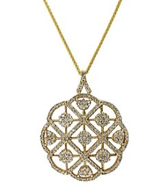 Effy® 2.08 ct. t.w. Diamond Pendant in 14K Yellow Gold