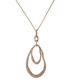 Effy® 0.81 ct. t.w. Diamond Pear Shaped Pendant Necklace in 14K Rose Gold