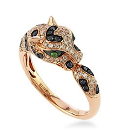 Effy® Panther Diamond and Tsavorite Ring in 14K Rose Gold