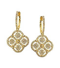Effy® 1.57 ct. t.w. Drop Earrings in 14K Yellow Gold