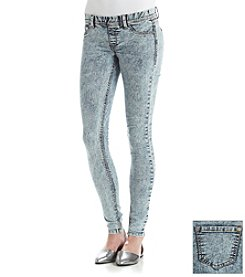 Boom Boom Dark Acid Wash Pull On Jeans
