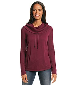 Jones New York Signature® Cowlneck Sweater with Kanga Pocket
