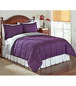 LivingQuarters Reversible Microfiber Down-Alternative Crown Jewel Comforter