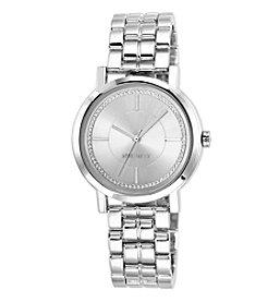 Nine West® Silver Sunray Dial Bracelet Watch