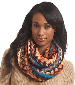 Steve Madden Persimmon Zigzag Infinity Scarf