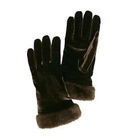 Cejon® Solid Velvet Gloves with Fur Cuff