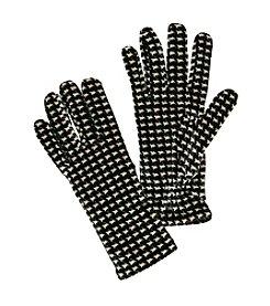 Cejon® Houndstooth Velvet Gloves