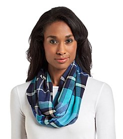 V. Fraas® Lightweight Plaid Cashmink Loop