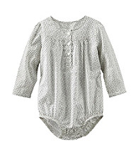 OshKosh B'Gosh® Baby Girls' Long Sleeve Woven Bodysuit