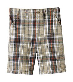 Ruff Hewn Boys' 2T-7 Plaid Flat Front Shorts