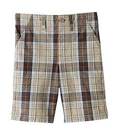 Ruff Hewn Boys' 2T-7 Plaid Flat Front Shorts