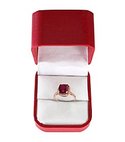 Effy® Lead Glass-Filled Ruby and 0.25 ct. t.w. Diamond Ring