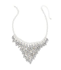 Studio Works® Silvertone V-Front Shaky Necklace