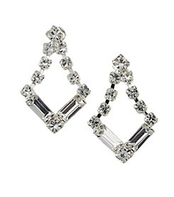 BT-Jeweled Small Post Baguette Earrings