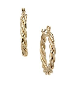 Studio Works® Goldtone Twisted Hoop Earrings