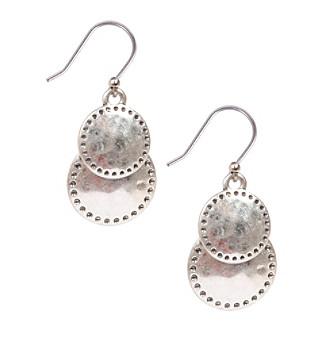 Lucky Brand® Silvertone Double Drop Earrings