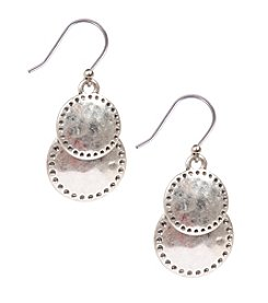 Lucky Brand® Silvertone Double Drop Earrings
