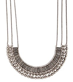 Lucky Brand® Silvertone Textured Collar Necklace