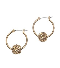 Lauren Ralph Lauren Goldtone 21mm Click-It Earrings