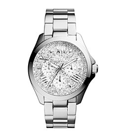 Fossil® Women's Cecile Watch with Silvertone Bracelet & Multicolored Pave Dial