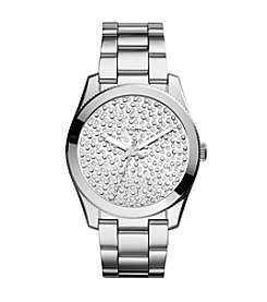 Fossil® Women's Perfect Boyfriend Watch with Silvertone Bracelet & Tonal Pave Dial