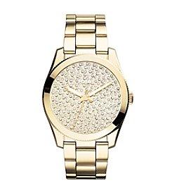 Fossil® Women's Perfect Boyfriend Watch with Goldtone Bracelet & Tonal Pave Dial