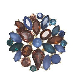 Napier® Boxed Multicolored Stone Cluster Pin