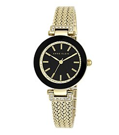 Anne Klein® Goldtone Crystal Watch