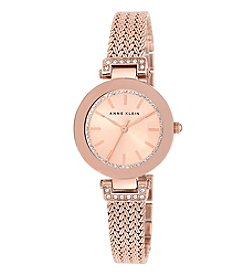 Anne Klein® Rose Goldtone Crystal Watch
