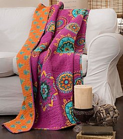 Lush Decor Adrianne Fuchsia Throw