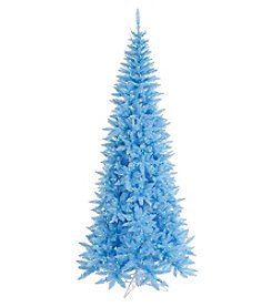 Vickerman Sky Blue Slim Fir Tree