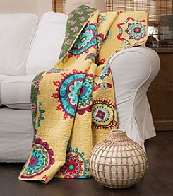 Lush Decor Adrianne Yellow Throw