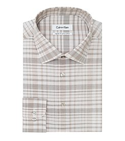 Calvin Klein Men's Plaid Spread Dress Shirt