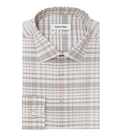 Calvin Klein Men's Plaid Spread Dress Shirt