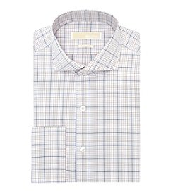 MICHAEL Michael Kors® Men's Plaid Spread Collar French Cuff Dress Shirt