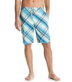 Paradise Collection® Men's Bias Plaid Swim Short
