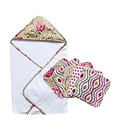 Waverly® Jazzberry Hooded Towel and Wash Cloth Bouquet Set