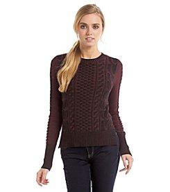 BCBGeneration™ Cable Crewneck Sweater