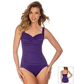 Trimshaper® Solid Averi One Piece Swimsuit