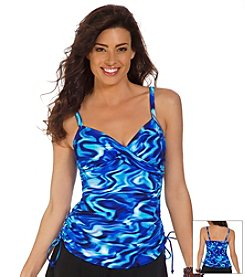 Trimshaper® Poolside Wendy Tankini Swim Top