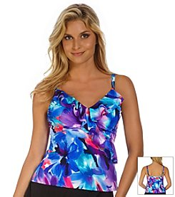 Trimshaper® Watercolor Amy Tankini Top