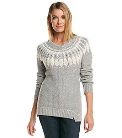 ruff hewn GREY Fairisle Tunic Sweater