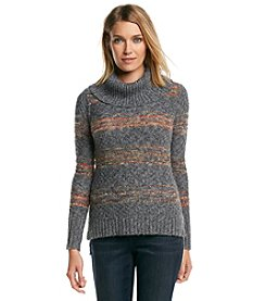 ruff hewn GREY Cowl Neck Spacedye Sweater