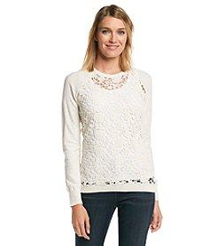 ruff hewn GREY Lace Sweater